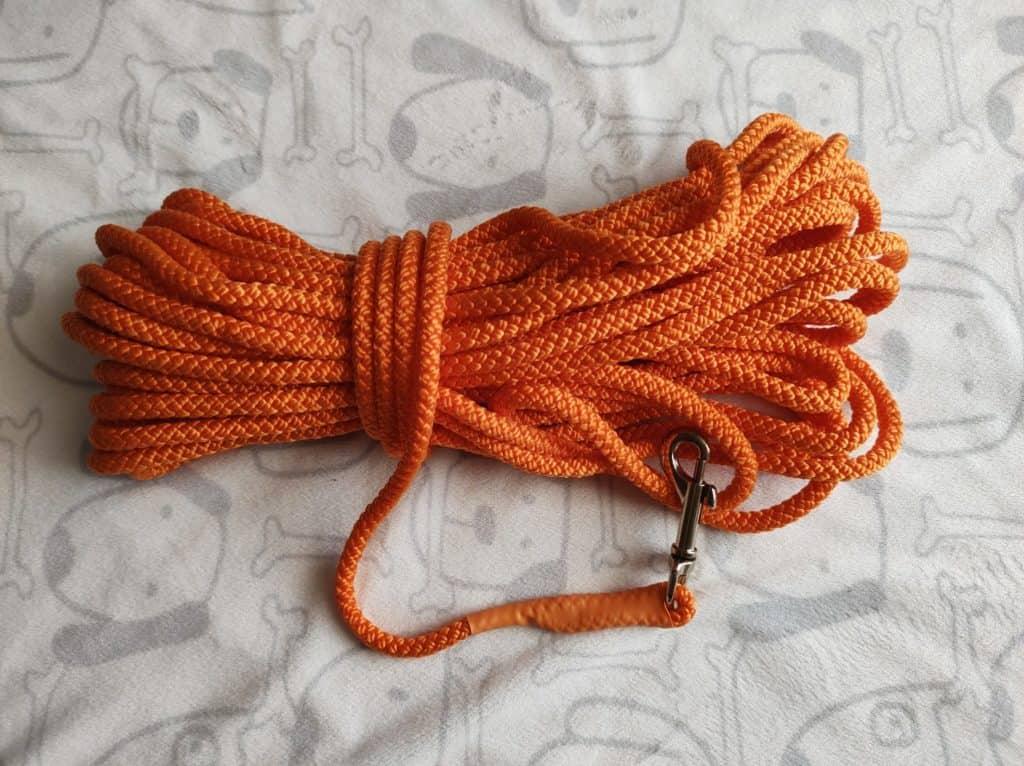 Schleppleine Orange aus Nylon Tau